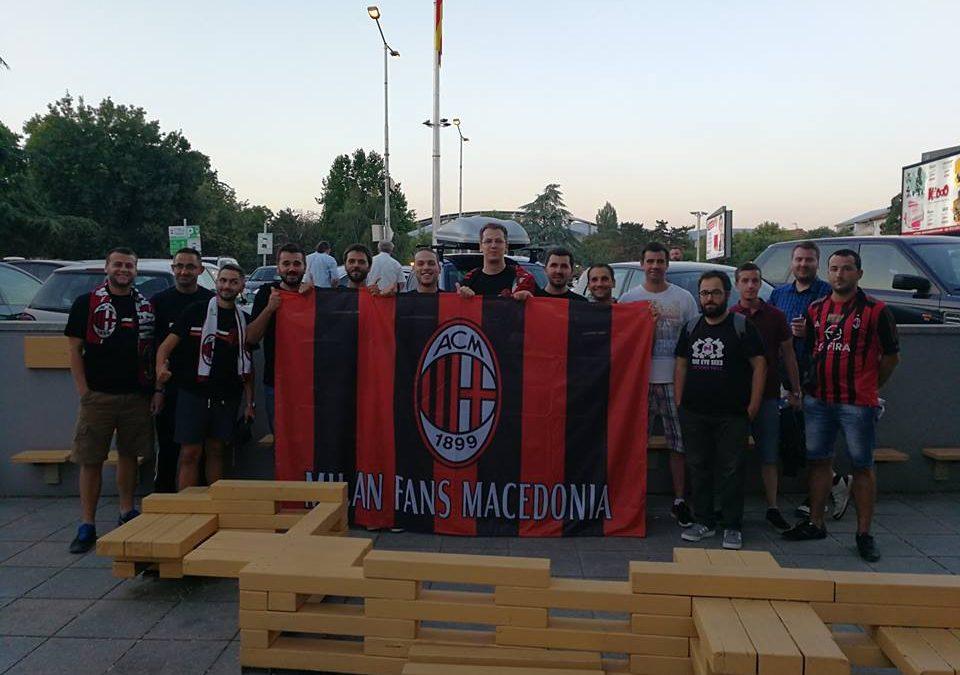 Собирот на македонските миланисти пред мечот со Шкендија